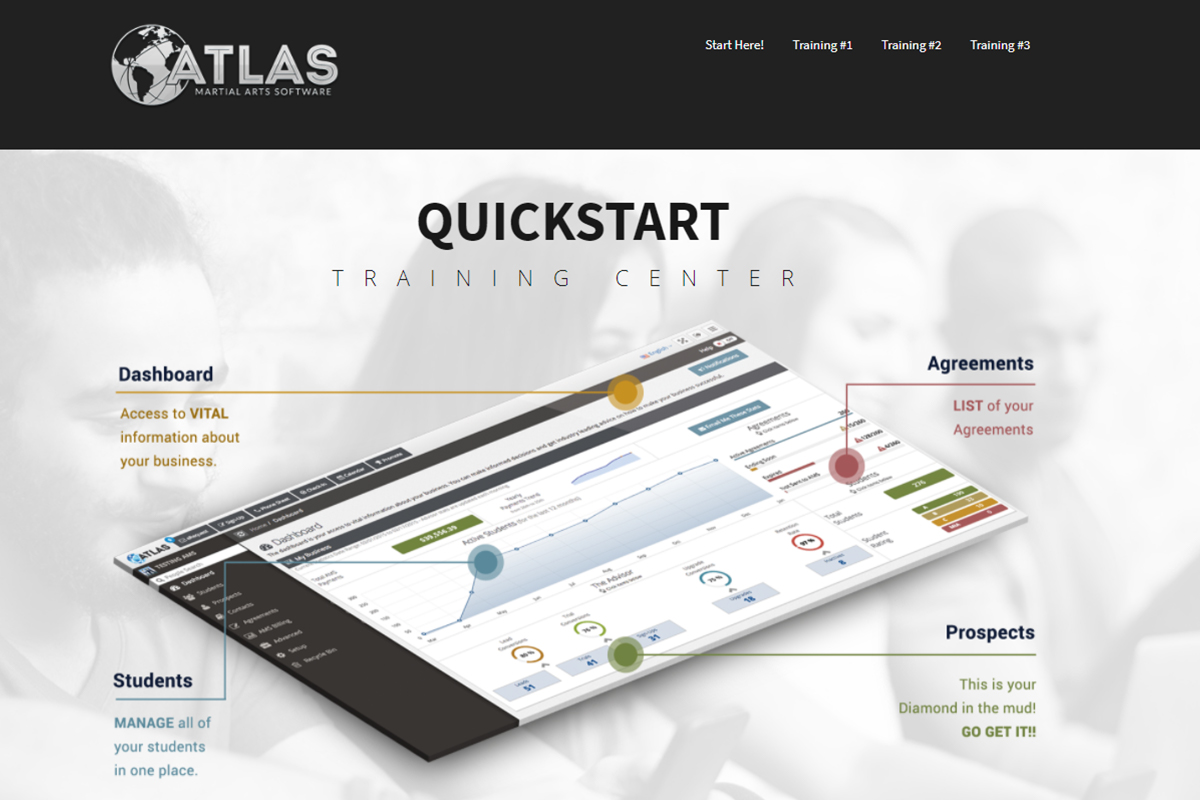 Atlas Martial Arts Software Training Website